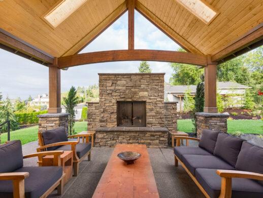 covered patio stone Bentonville